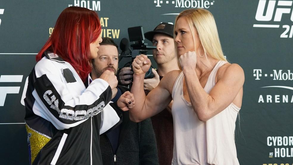 Cris Cyborg e Holly Holm fazem a luta principal do UFC 219 (Foto: Evelyn Rodrigues)