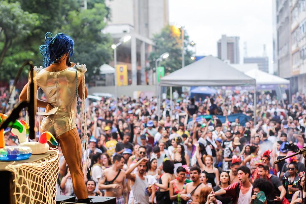 Bloco Sereias Tropicanas no carnaval de 2019 no Setor Comercial Sul, em Brasília — Foto: Sereias Tropicanas/Divulgação