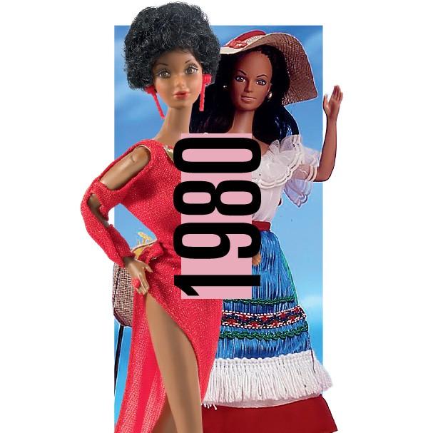 As Barbies afro e italiana foram lançadas em 1980 (Foto: Getty Images)