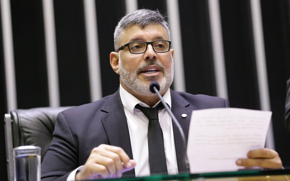 O deputado Alexandre Frota (PSL-SP), durante sessão na Câmara — Foto: Michel Jesus/Câmara dos Deputados