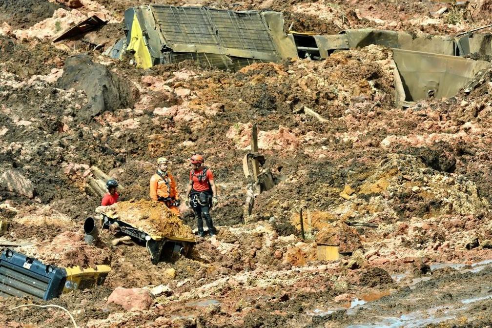 A barragem da mina do Feijão, situada em Brumadinho, na região metropolitana de Belo Horizonte (MG), se rompeu nesta sexta-feira (25).  — Foto: Uarlen Valério/O Tempo/Estadão Conteúdo