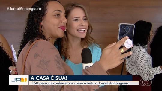 TV Anhanguera recebe telespectadores na estreia do projeto 'A Casa é Sua'