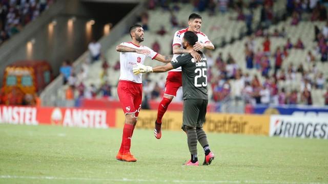 Independiente comemora gol contra Fortaleza