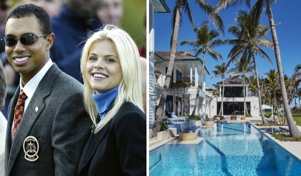 A mansão colocada à venda pela ex-esposa do jogador de golfe Tiger Woods, a modelo Elin Nordegren (Foto: Getty Images/Divulgação)