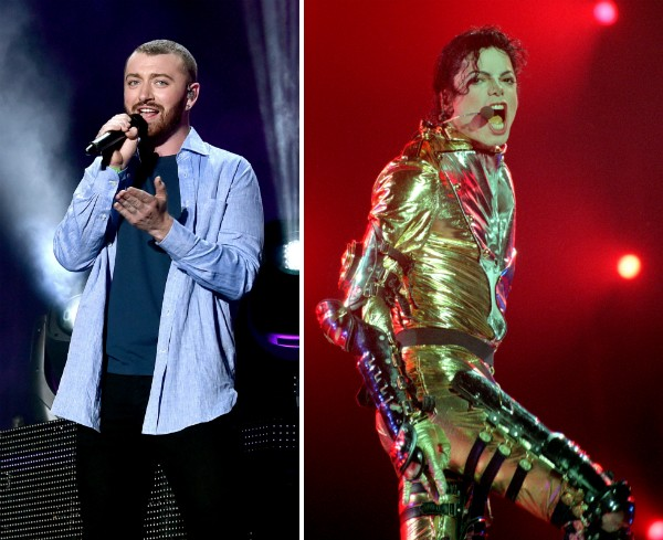 O cantor Sam Smith e o músico Michael Jackson (1958-2009) (Foto: Getty Images)