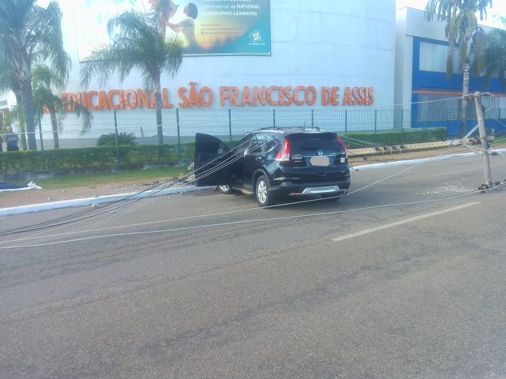 Acidente na avenida JK (Foto: Vérica Miranda/Arquivo Pessoal)