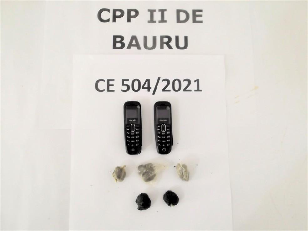 Além das drogas, presos engoliram minicelulares para entrar em unidade prisional de Bauru — Foto: SAP/Divulgação