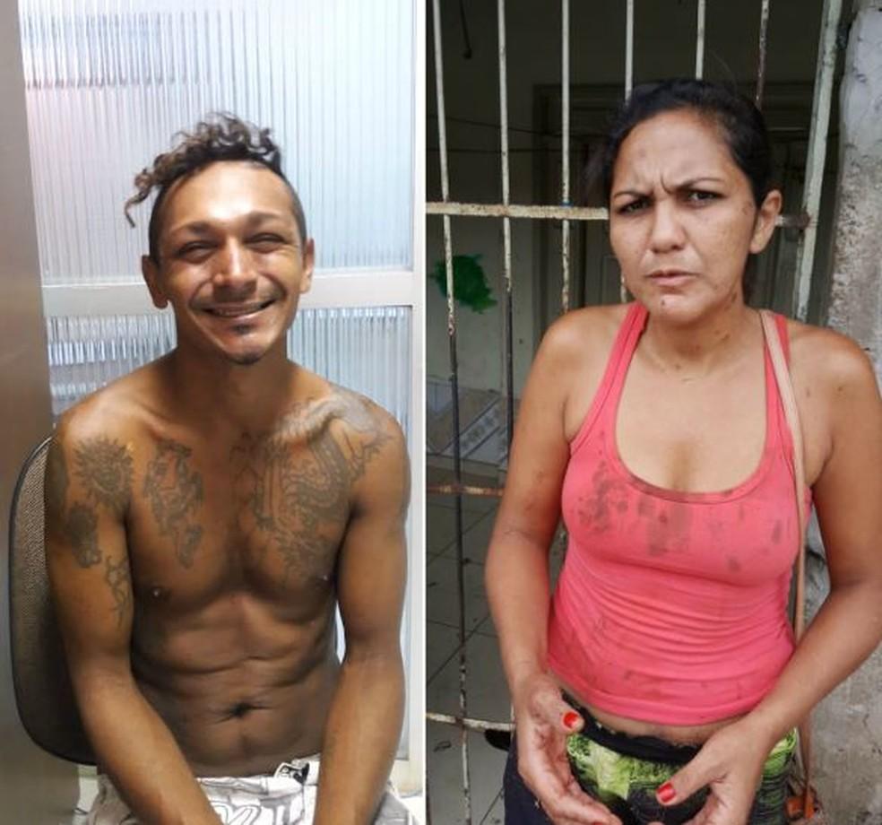 Casal é preso após roubar televisão e tentar matar idoso de 71 anos em Rio Branco — Foto: Divulgação/PM-AC