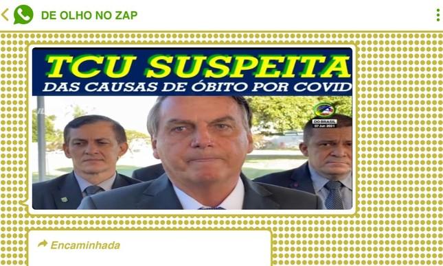 Presidente Jair Bolsonaro divulgou falso relatório do TCU a apoiadores em Brasília