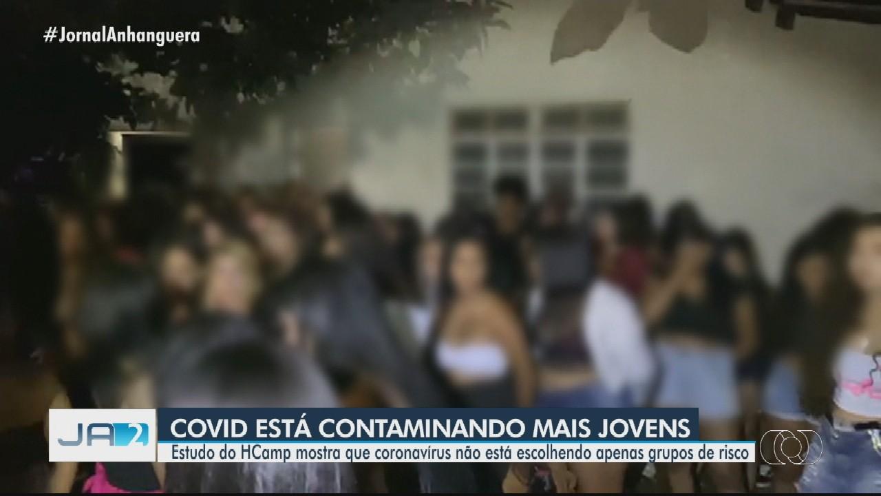 Estudo mostra que Covid-19 está contaminando mais jovens em Goiás