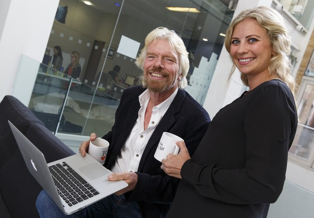 Richard e Holly Branson em encontro no Virgin Group (Foto: Tristan Fewings/Getty Images for LinkedIn)