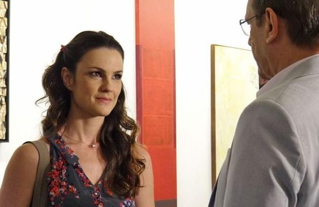 Carolina Kasting e José Wilker em 'Amor à vida', última novela do ator (Foto: Divulgação/TV Globo)