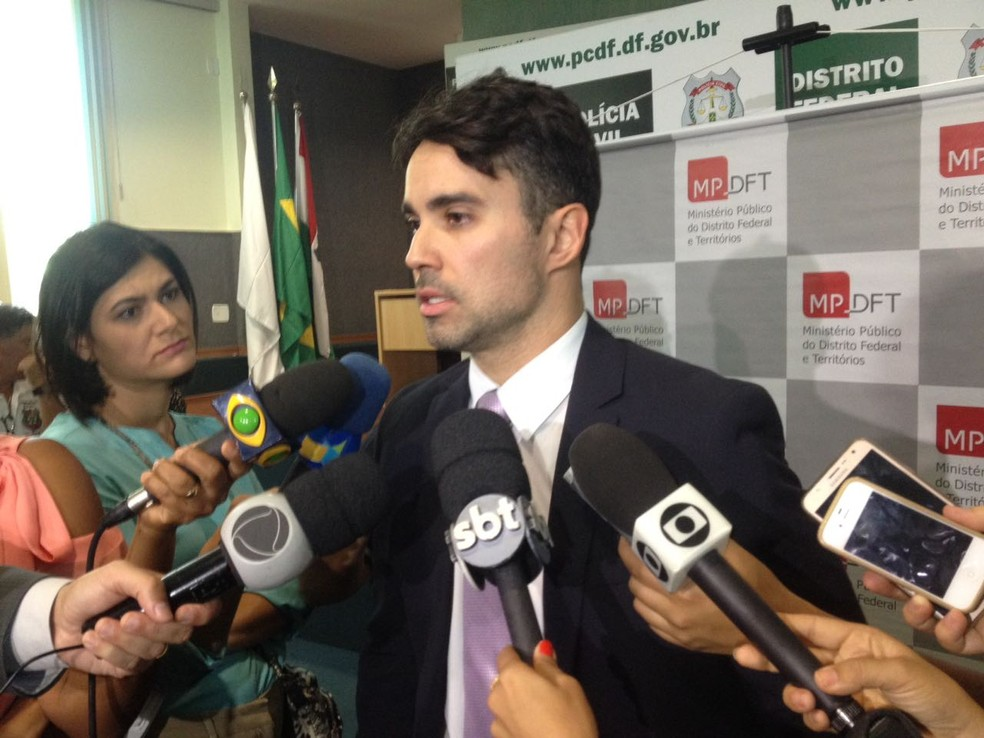 O promtotor Fábio Nascimento, em entrevista (Foto: Bianca Marinho/G1)