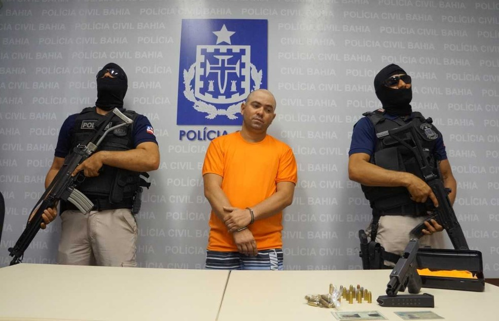 Didi foi apresentado pela Polícia Civil nesta segunda-feira e encaminhado para Complexo Penitenciário, em seguida (Foto: Polícia Civil/ Divulgação)
