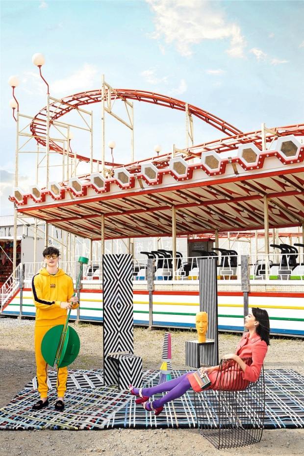 Peças lúdicas invadem decoração em parque de diversões (Foto: Rogério Cavalcanti)