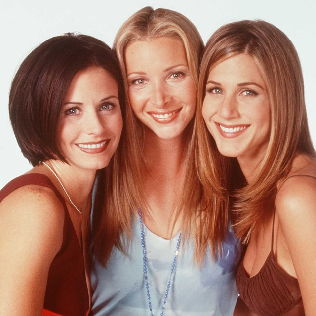 Courteney Cox, Lisa Kudrow e Jennifer Aniston (Foto: Getty Images)