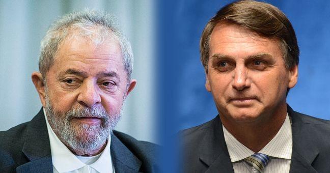 Lula e Jair Bolsonaro (Foto: Arquivo Google)