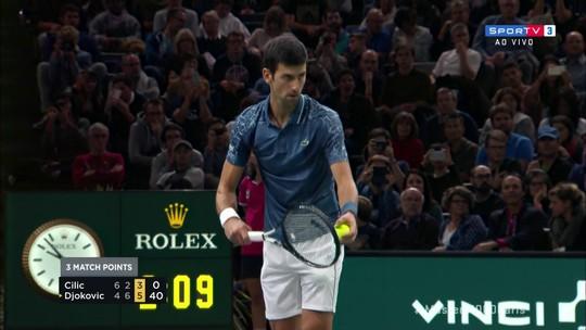 Os pontos finais de Cilic 1 x 2 Djokovic pelo Masters 1000 de Paris