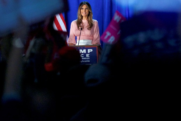 Melania Trump durante campanha (Foto: Reuters)