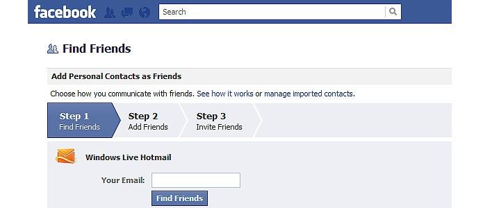O recurso para encontrar amigos foi incorporado ao Facebook após a compra da startup Octazen em 2010 (Foto: Reprodução/Facebook)