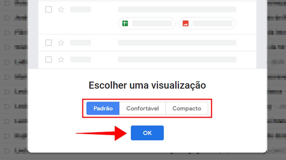 Escolha o modo de visualização do Gmail (Foto: Reprodução/Paulo Alves)