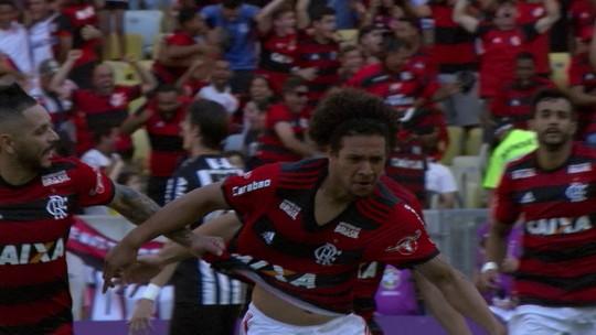 Assista aos gols da vitória do Flamengo sobre o Atlético-MG