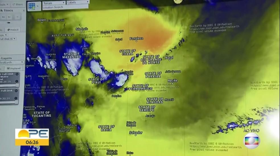 Altas temperaturas foram registradas em Floresta e Arcoverde, no Sertão — Foto: TV Globo/Reprodução