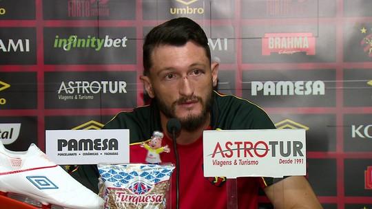 """Sem molezinha! Sander espera """"jogo f..."""" do Sport contra Londrina"""