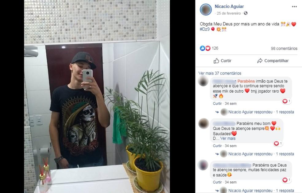 Nicacio Aguiar da Silva, de 19 anos, morreu em acidente de moto na quinta-feira (24) em Ibitinga — Foto: Facebook/Reprodução