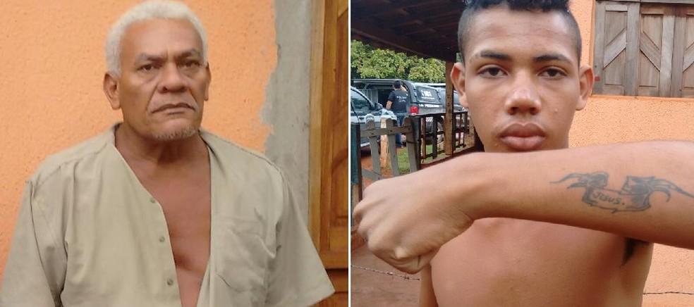 Pai e filho, Manoel Antônio da Trindade e Isael Guaberto da Trindade foram mortos a tiros (Foto: PM/Divulgação)