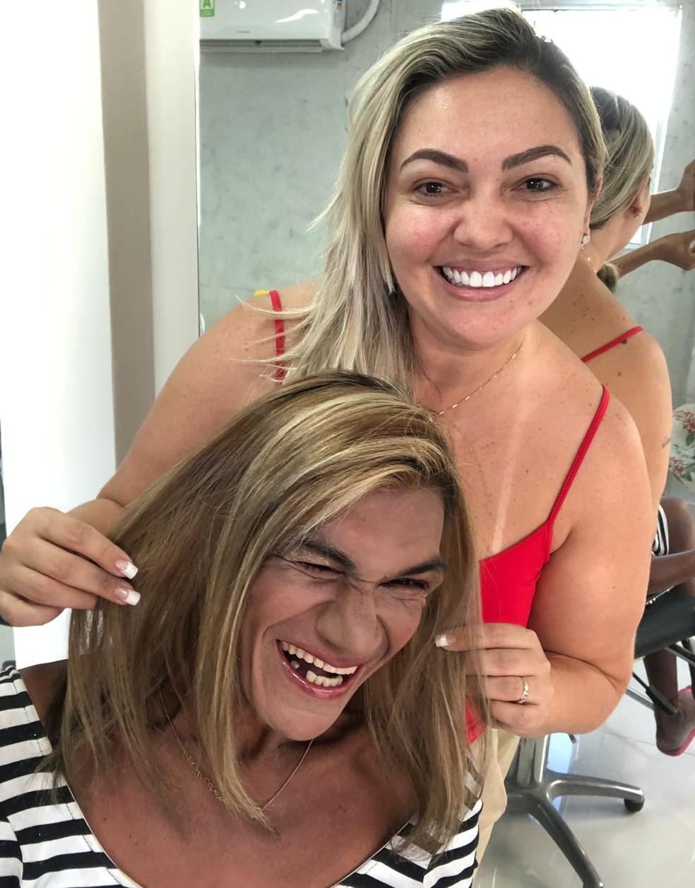 Tatiana Van Campo e Ana Paula — Foto: Arquivo pessoal