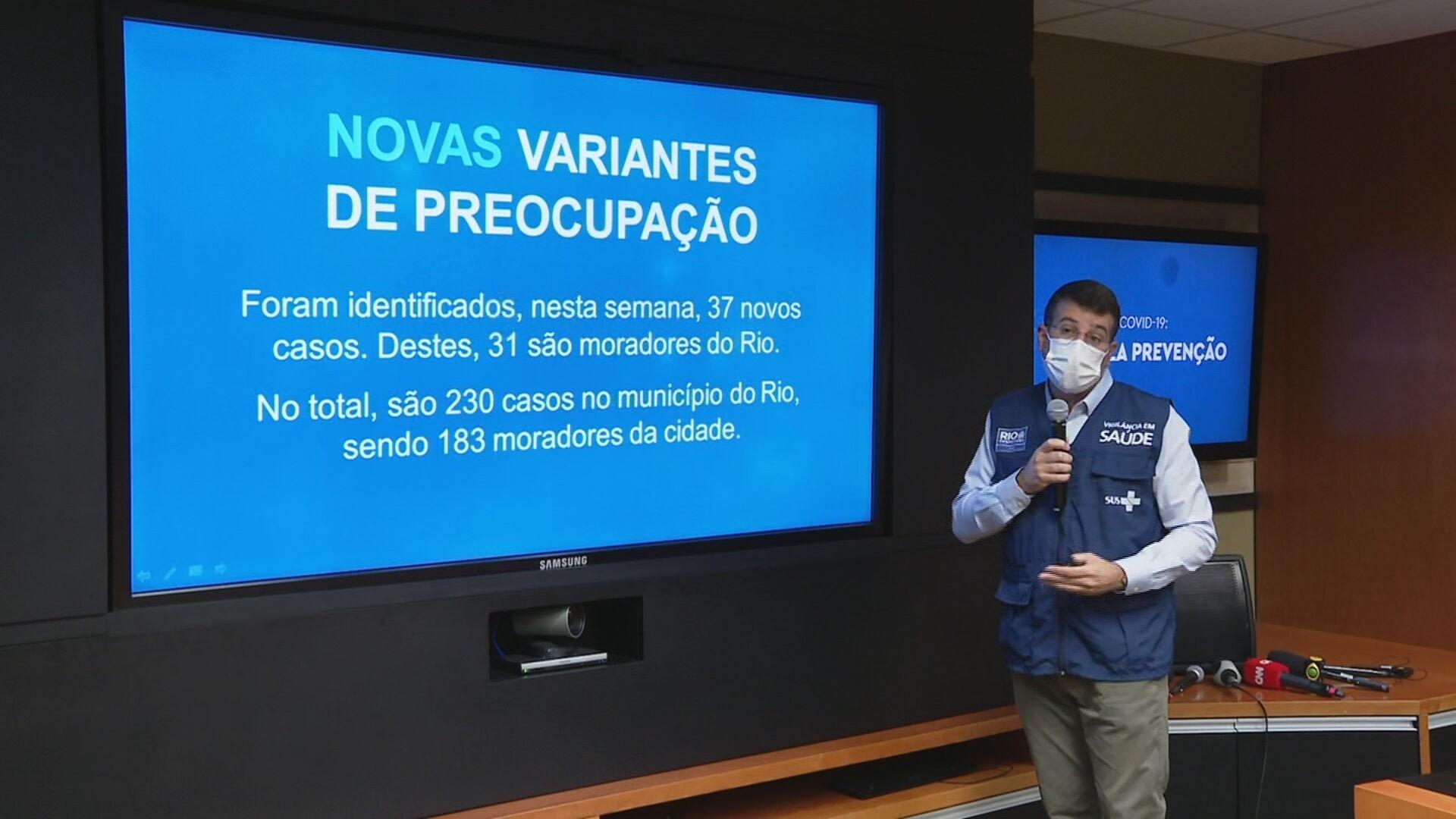 Variante brasileira da Covid representa 80% dos casos da doença no Rio, diz secretário