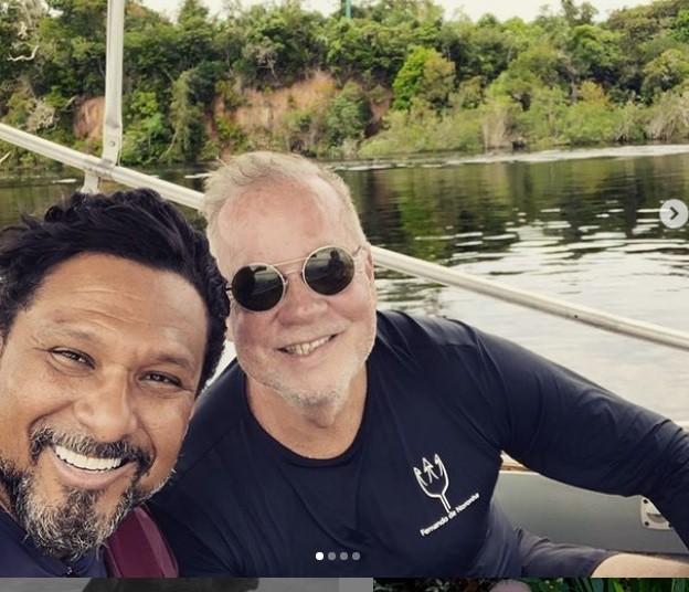 Adriano Medeiros e Luiz Fernando Guimarães (Foto: Reprodução)