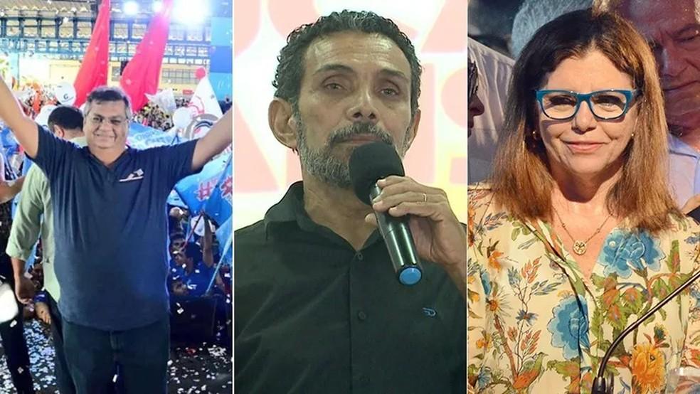 Flávio Dino, Ramon Zapata e Roseana Sarney concorrem ao governo do estado (Foto: Montagem / G1 MA)