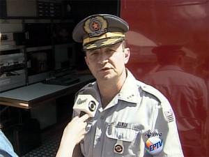 Capitão Usai, da Polícia Militar (Foto: Reprodução/EPTV)