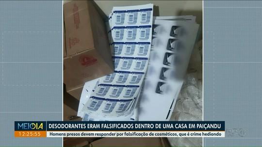 Fábrica de desodorantes falsificados é encontrada por policiais
