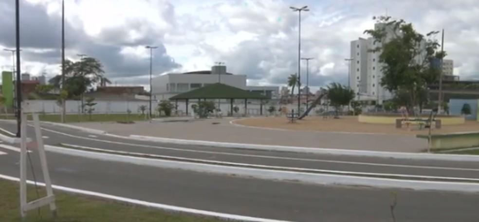 Parque da Liberdade, em Campina Grande — Foto: TV Paraíba/ Reprodução