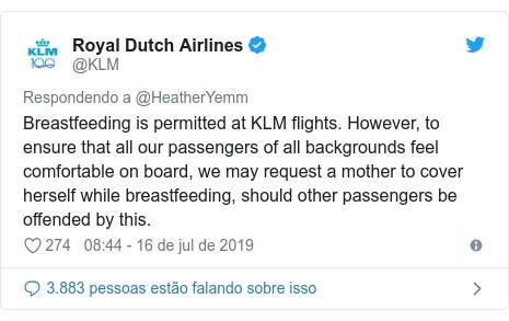 Royal Dutch Airlines (Foto: @klm via BBC)