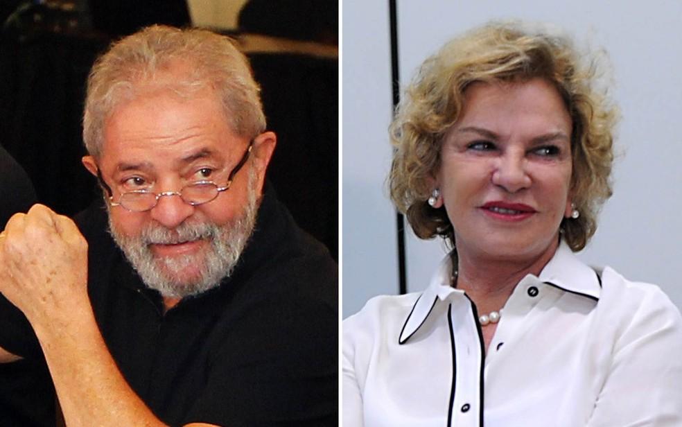 O ex-presidente Luiz Inácio Lula da Silva e a ex-primeira-dama, Marisa Letícia — Foto: Sérgio Castro/Estadão Conteúdo; Fabio Rodrigues Pozzebom/Agência Brasil/Arquivo