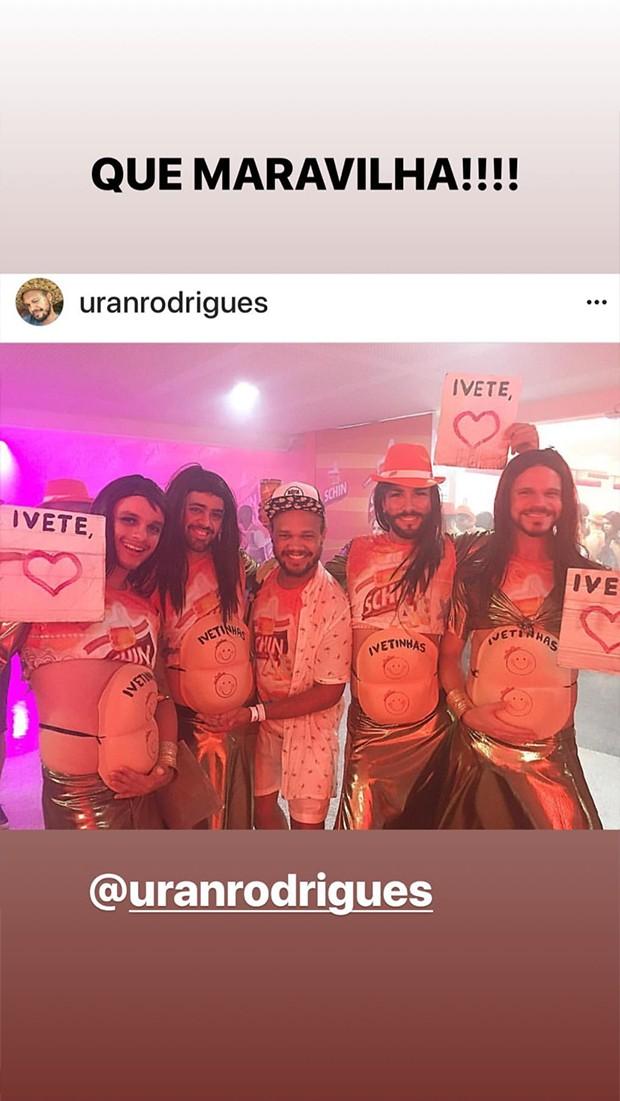 Homenagem á Ivete no Carnaval 2018 (Foto: Reprodução/ Instagram)