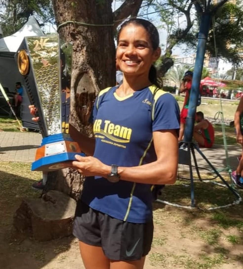 Antônia Bernadete Lins da Silva, maratonista — Foto: Reprodução