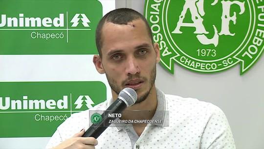 """""""Feliz por estar vivo"""", Neto quer voltar a jogar em breve pela Chapecoense"""