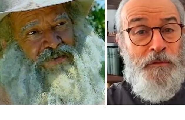 O importante papel de Velho do Rio (Claudio Marzo) será de Osmar Prado na novela de 2021 da Globo (Foto: Reprodução)