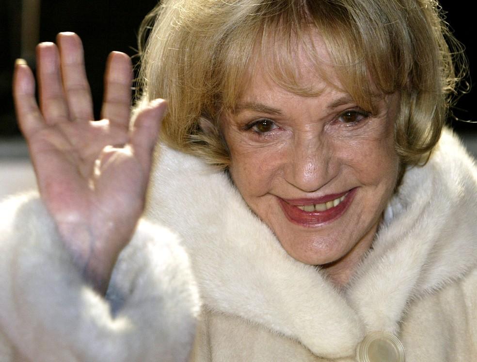 Atriz Jeanne Moreau morreu aos 89 anos em Paris (Foto de arquivo de 6 de dezembro de 2003)  (Foto: Fabrizio Bensch/ Reuters)