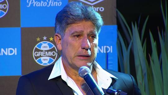 """Grêmio inaugura estátua de Renato Gaúcho na Arena: """"Homenagem inesquecível"""""""