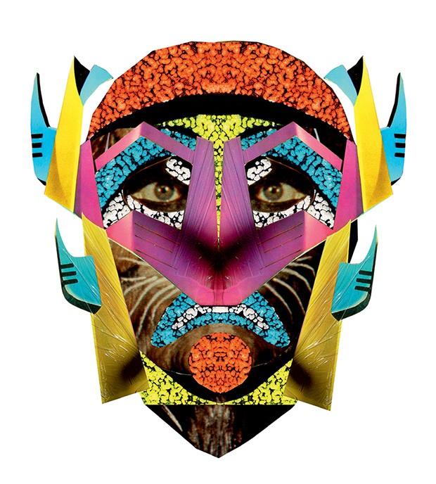 Uma das máscaras que estarão em exibição na Viva Projects, em Pinheiros (Foto: Erick Flores Quesada e Divulgação)
