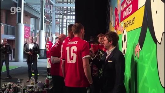 Têm talento? Jogadores do United viram grafiteiros em evento de patrocinador