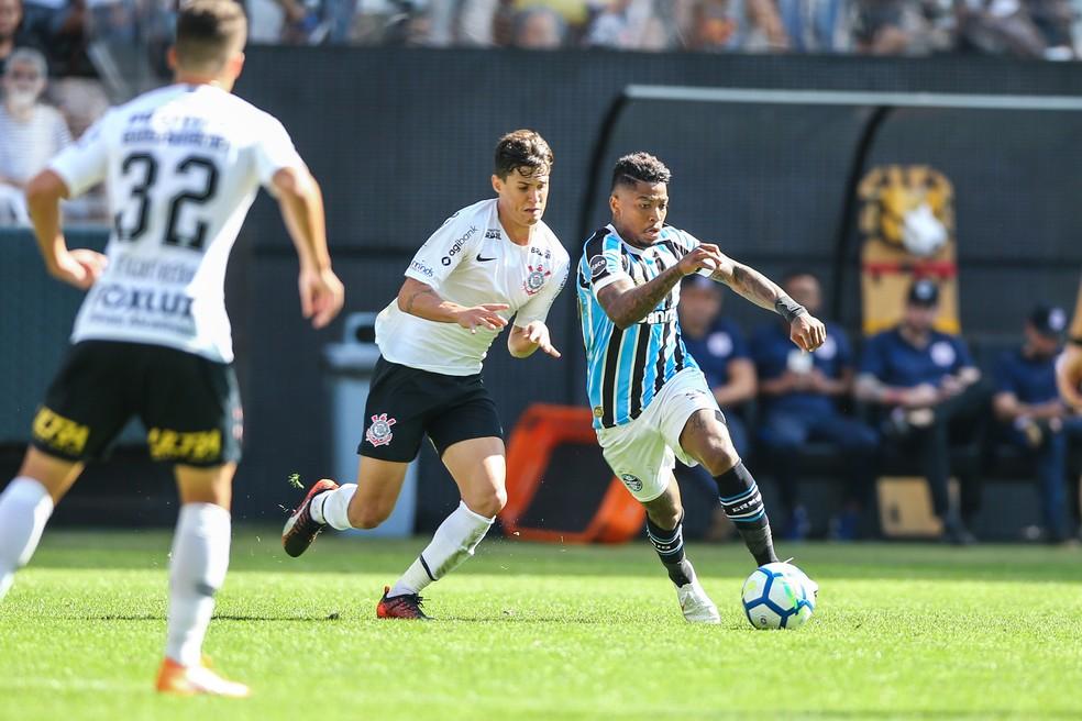 Marinho já vestiu a camisa do Grêmio em amistoso contra o Corinthians (Foto: Lucas Uebel/Grêmio)