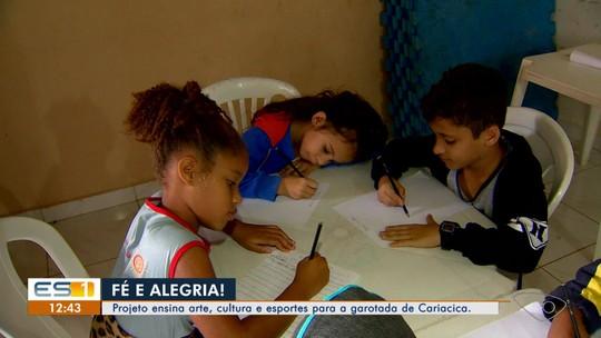 Projeto ensina arte, cultura e esportes para as crianças de Cariacica, ES