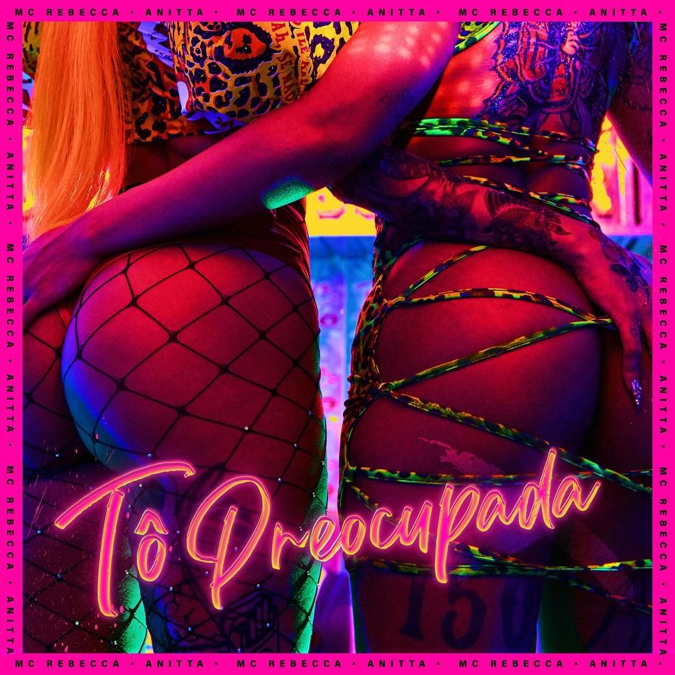 Capa do single 'Tô preocupada', de MC Rebecca com Anitta — Foto: Reprodução